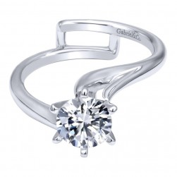 Gabriel 14 Karat Contemporary Engagement Ring ER10482W4JJJ