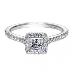 Gabriel 14 Karat Contemporary Engagement Ring ER7841W44JJ