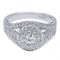 Gabriel 14 Karat Contemporary Engagement Ring ER910425W44JJ