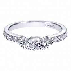 Gabriel 14 Karat Contemporary Wedding Band WB3745W44JJ