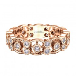 Gabriel Fashion 14 Karat Stackable Stackable Ladies' Ring LR5119K45JJ