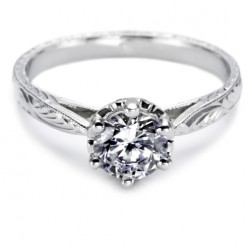 Tacori 18 Karat Solitaire Engagement Ring 10018