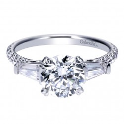 Gabriel 14 Karat Contemporary Engagement Ring ER9045W44JJ