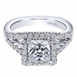 Gabriel 14 Karat Contemporary Engagement Ring ER9242W44JJ