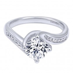 Gabriel 14 Karat Contemporary Engagement Ring ER10437W44JJ