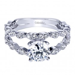 Gabriel 14 Karat Contemporary Engagement Ring ER4231W44JJ