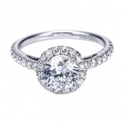 Gabriel 14 Karat Contemporary Engagement Ring ER7261W44JJ