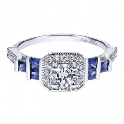 Gabriel 14 Karat Contemporary Engagement Ring ER911933R0W44SA