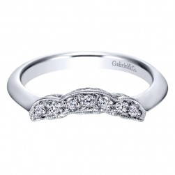 Gabriel 14 Karat Contemporary Wedding Band WB3819W44JJ