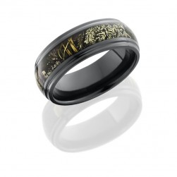 Lashbrook Z8DGE14/RTMAX1 POLISH Camo Wedding Ring or Band