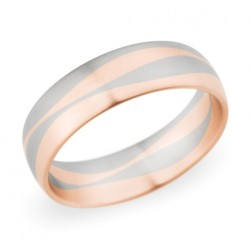 273255 Christian Bauer 14 Karat Two-Tone Wedding Ring / Band