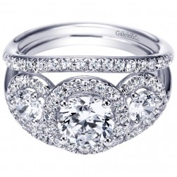 Gabriel 14 Karat Contemporary Engagement Ring ER4256W44JJ