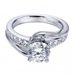 Gabriel 14 Karat Contemporary Engagement Ring ER6078W44JJ