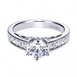 Gabriel 14 Karat Contemporary Engagement Ring ER92797W44JJ