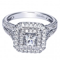 Gabriel 14 Karat Contemporary Engagement Ring ER98516W44JJ
