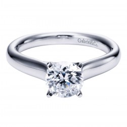 Gabriel Platinum Contemporary Engagement Ring ER6639PTJJJ
