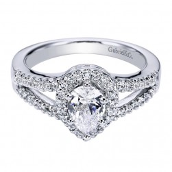 Gabriel 14 Karat Contemporary Engagement Ring ER5870W44JJ