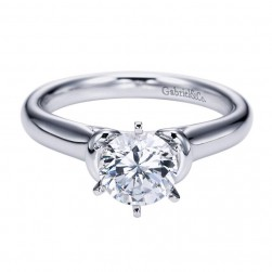 Gabriel 14 Karat Contemporary Engagement Ring ER6573W4JJJ