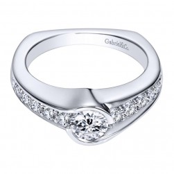 Gabriel 14 Karat Contemporary Engagement Ring ER96085W44JJ