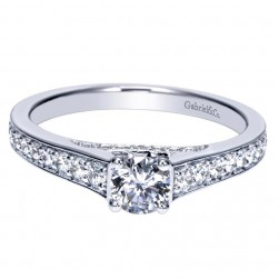 Gabriel 14 Karat Contemporary Engagement Ring ER98626W44JJ