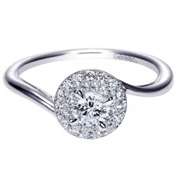Gabriel 14 Karat Contemporary Engagement Ring ER98862W44JJ