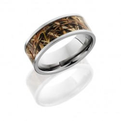 Lashbrook 8F16/MOCBLADES POLISH Titanium Wedding Ring or Band