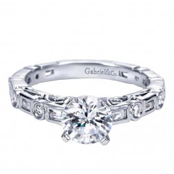 Gabriel 14 Karat Contemporary Engagement Ring ER5652W44JJ