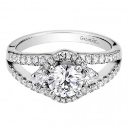 Gabriel 14 Karat Contemporary Engagement Ring ER9282W44JJ
