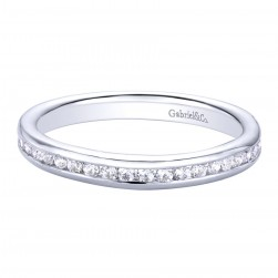Gabriel 14 Karat Contemporary Wedding Band WB9722W44JJ