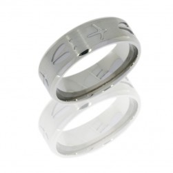 Lashbrook 8BTURKEYDEER SATIN-POLISH Titanium Wedding Ring or Band