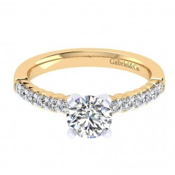 Gabriel 14 Karat Contemporary Engagement Ring ER6874M44JJ