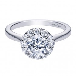 Gabriel 14 Karat Contemporary Engagement Ring ER7494W44JJ