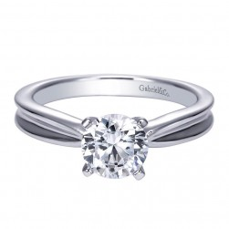 Gabriel 14 Karat Contemporary Engagement Ring ER8134W4JJJ