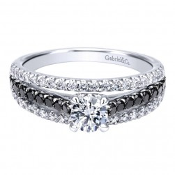 Gabriel 14 Karat Contemporary Engagement Ring ER911937R0W44BD