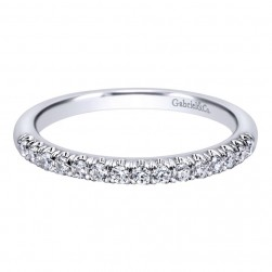 Gabriel 14 Karat Contemporary Wedding Band WB10300W44JJ