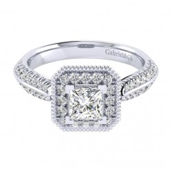 Gabriel 14 Karat Perfect Match Engagement Ring ER002B3ALW44JJ