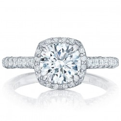 HT2547CU7 Platinum Tacori Petite Crescent Engagement Ring
