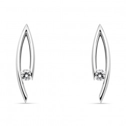 Kretchmer Platinum Drop Jackets Tension Set Earrings