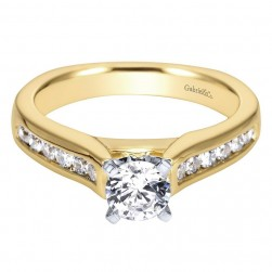 Gabriel 14 Karat Contemporary Engagement Ring ER3963M44JJ