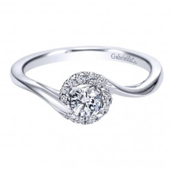 Gabriel 14 Karat Contemporary Engagement Ring ER97715W44JJ