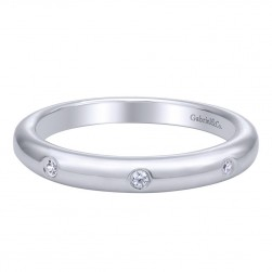Gabriel 14 Karat Contemporary Wedding Band WB9772W44JJ