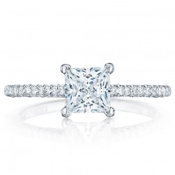 HT254615PR55 Platinum Tacori Petite Crescent Engagement Ring