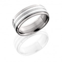 Lashbrook 8FGEW21/SS STONE-POLISH Titanium Wedding Ring or Band