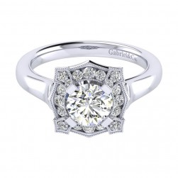 Gabriel 14 Karat Perfect Match Engagement Ring ER009B4ADW44JJ