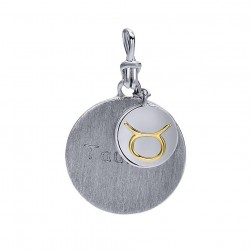 Gabriel Fashion Silver / 18 Karat Two-Tone Treasure Chests Charm Pendant PT944TA-MYJJJ