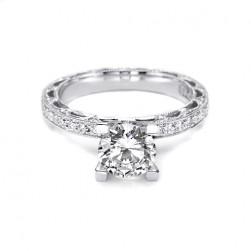 Tacori Crescent Platinum Engagement Ring HT2511A