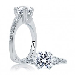 A.JAFFE 18 Karat Signature Engagement Ring MES670