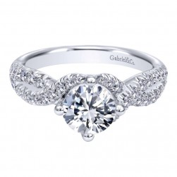 Gabriel 14 Karat Contemporary Engagement Ring ER10197W44JJ