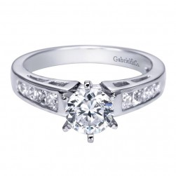 Gabriel 14 Karat Contemporary Engagement Ring ER1737W44JJ