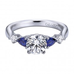Gabriel 14 Karat Contemporary Engagement Ring ER6002W44SA